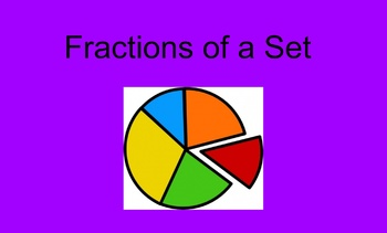 Let's Learn Fractions of a Set