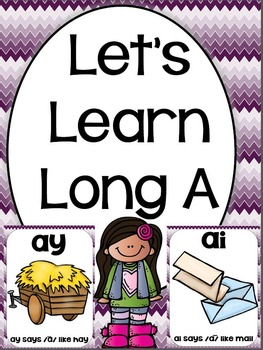 Let's Learn Long A ( ai and ay phonics unit)
