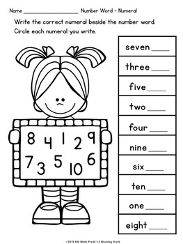 Let's Learn Math Pre-K-1-2 Morning Work Reproducibles