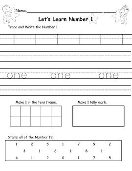 Let's Learn Numbers - Print & GO!