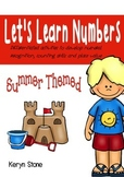 Let's Learn Numbers Summer Themed