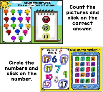 Let's Learn Our Numbers 11-20 {Promethean Board Flip Chart}