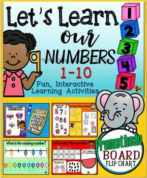 Let's Learn Our Numbers 1-10 {Promethean Board Flip Chart}