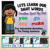 Sight Words (Pre-Primer) {Promethean Board Flip Chart}