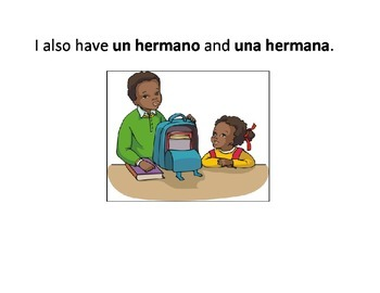 Let's Learn Spanish-Mi Familia-In color and black and white