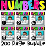 Numbers 1-10 No Prep Math Printables BUNDLE for Kindergarten