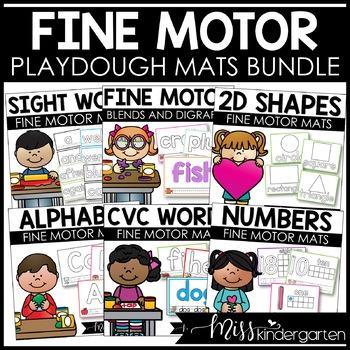 Playdough Mats {literacy & math bundle pack}