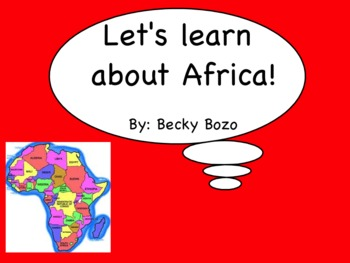 Let's Learn about Africa