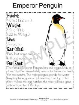 Let's Learn about Penguins Educational Unit
