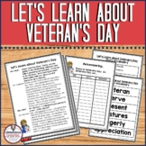 Partner Play: Let's Learn about Veteran's Day