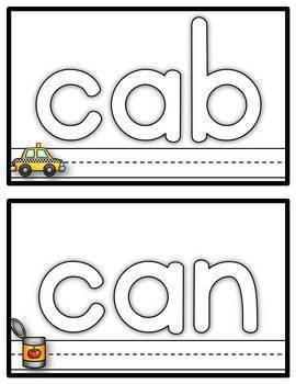 Let's Learn our CVC Words! {play dough mats}