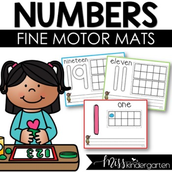 Playdough Mats Numbers 1-20