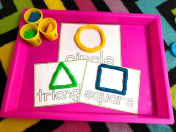 Let's Learn our Shapes! {play dough mats}