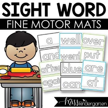 Sight Words Playdough Mats
