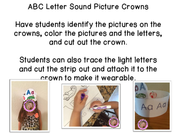 Let's Learn the Alphabet!  ABC Crowns!