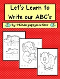 Let's Learn to write our ABC's