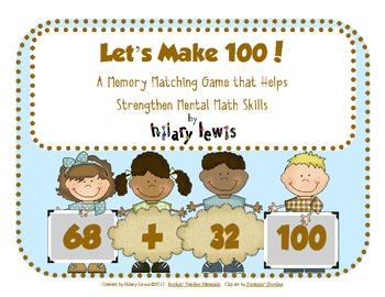 Let's Make 100! Mental Math Memory Game