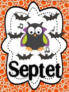 Let's Make BOOtiful Music Halloween Hooters Ensembles Bulletin Board