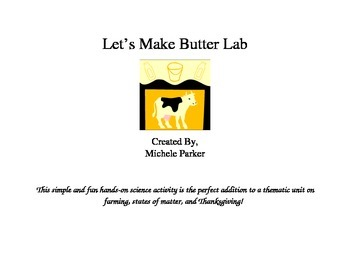 Let's Make Butter: A Simple Lab Exploring the States of Matter
