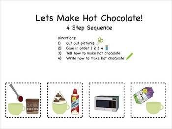 Lets Make Hot Chocolate! - Cut and Glue Sequencing