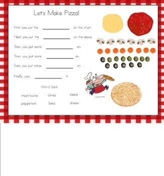 Let's Make Pizza for the SMART Board