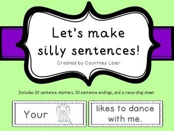 Let's Make Silly Sentences!