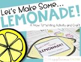 How to Make Lemonade Writing Activity and Craft