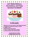Let's Make Synonym Sundaes (A Cute Craftivity)