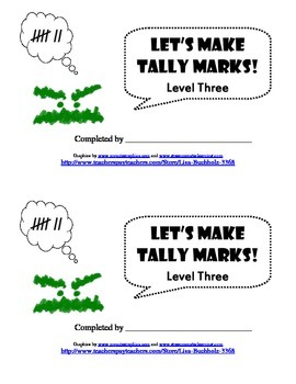 Let's Make Tally Marks: Level Three