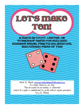 Let's Make Ten! {Math activity for building number sense & practicing addition}