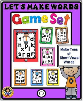 Let's Make Words Game Set {Short Vowels}