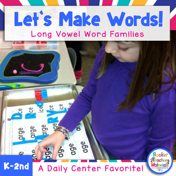 Let's Make Words!-Long Vowel Word Family Literacy Station Activities