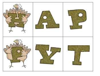 Let's Make Words...Happy Thanksgiving