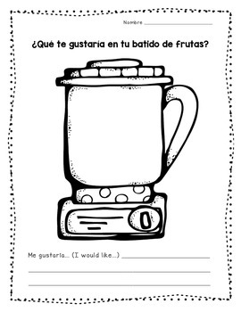"Let's Make a ""Batido de Frutas"""