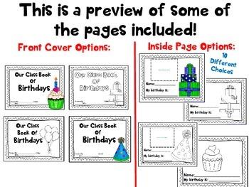 Class Birthday Book