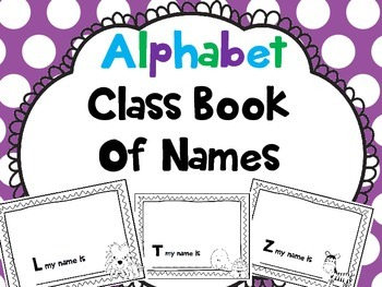 Let's Make a Class Book of Our Names