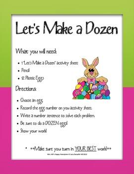 Let's Make a Dozen Math Center