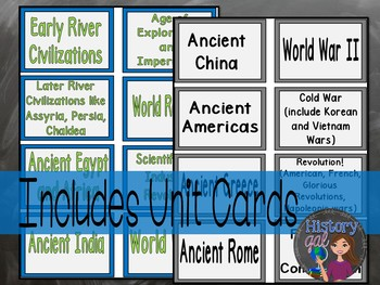 World History Midterm, EOC, and Final Exam Review Activity