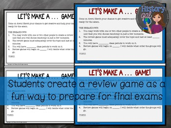 U.S. History Midterm, EOC, and Final Exam Review Activity