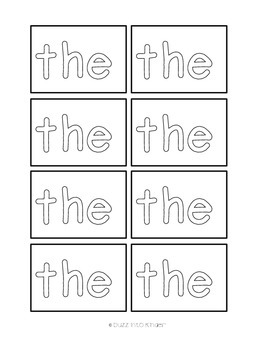 Let's Make a Hat - Sight Words (100 Fry Words)