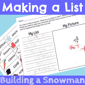 Lets Make a List with Snowmen