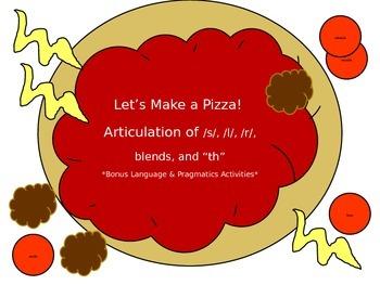Let's Make a Pizza Articulation with Bonus Language Activities