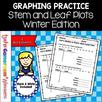 Let's Make a Stem and Leaf Plot - Snowman theme