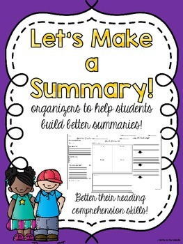Let's Make a Summary: Organizers and Foldables