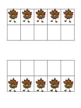 Let's Make a Ten! Thanksgiving Set (4 different games!)
