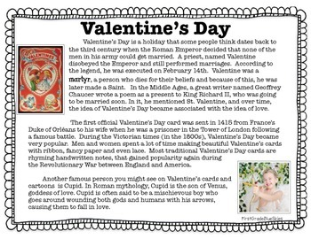 Valentine's Day Close Read, Craft, and More!