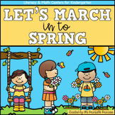 Spring Activities Kindergarten Literacy and Math Centers