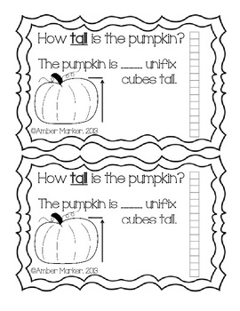 Let's Measure- Pumpkin Non-Standard Unit Measuring Booklet