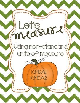 Let's Measure- Pumpkin Non-Standard Unit Measuring Booklet