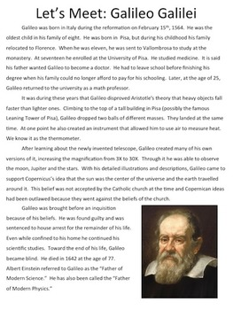 Let's Meet: Galileo Galilei